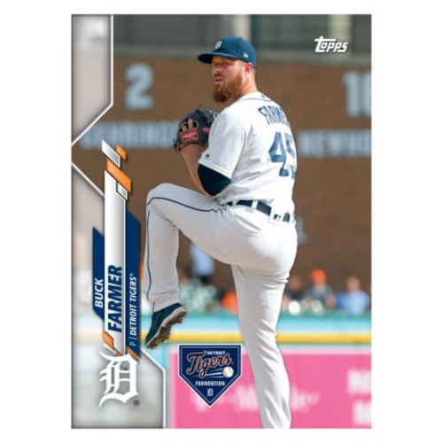 Photo of Autographs for a Cause: Buck Farmer Autographed Limited Edition 2020 Topps Detroit Tigers Baseball Card