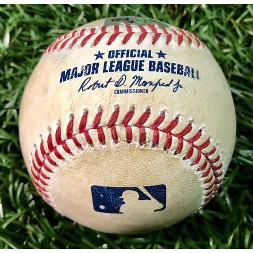 Game Used Baseball: Tyler Glasnow strikes out Chance Sisco - Tyler Glasnow (W, 7.0IP, 13 SO) - August 25, 2020 v BAL
