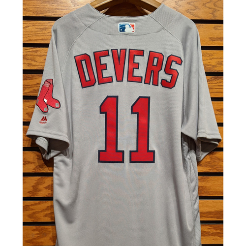 Rafael Devers #11 Team Issued Road Gray Jersey