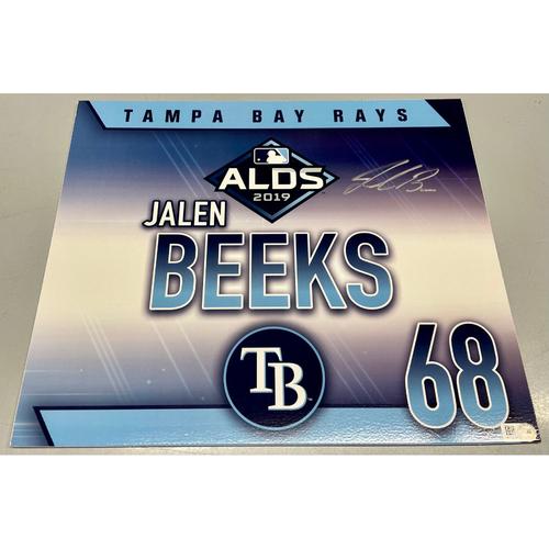 Team Issued Autographed ALDS Locker Tag: Jalen Beeks - October 7, 2019 v HOU