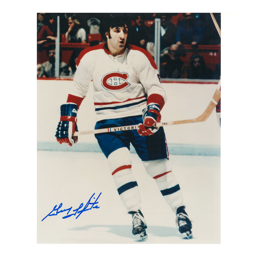 GUY LAPOINTE Signed Montreal Canadiens 8 X 10 Photo - 70170