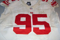 NFL INTERNATIONAL SERIES - GIANTS JOHNATHAN HANKINS GAME WORN GIANTS JERSEY (OCTOBER 23 2016)