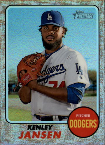 Photo of 2017 Topps Heritage Chrome Refractors #THC712 Kenley Jansen