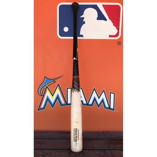 Photo of Game-Used Broken Bat: Miguel Rojas