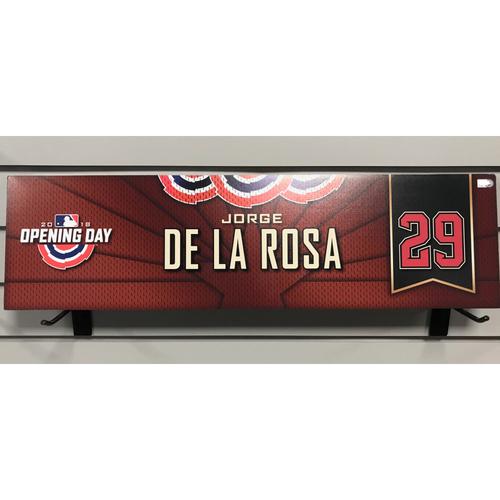 Photo of 2018 Jorge De La Rosa Opening Day Nameplate