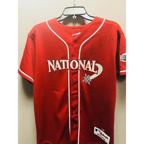 Photo of Luis Gonzalez Autographed 2001 All-Star Jersey