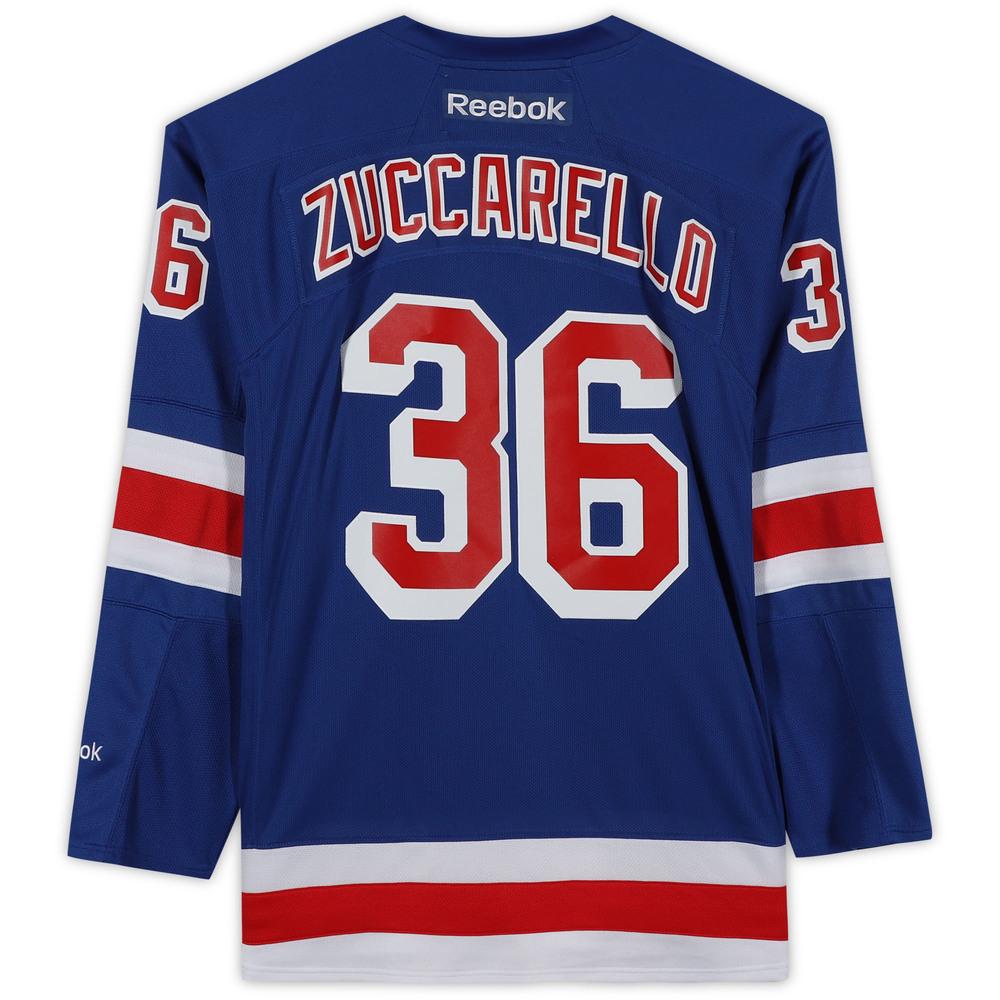 Mats Zuccarello New York Rangers Unsigned Blue Reebok Premier Jersey