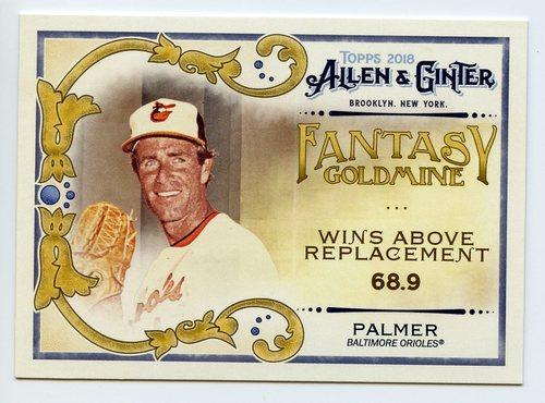 Photo of 2018 Topps Allen and Ginter Fantasy Goldmine #FG38 Jim Palmer