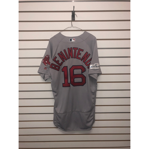 Photo of Andrew Benintendi Team-Issued 2017 Road Jersey