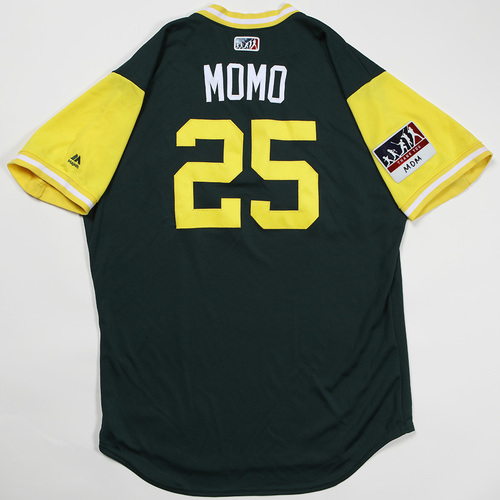 "Photo of Stephen""MOMO"" Piscotty Oakland Athletics Game-Used Jersey 2018 Players' Weekend Jersey"