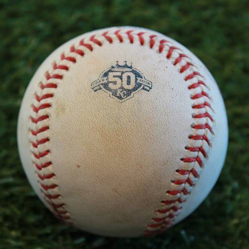 Photo of Game-Used Baseball: Jim Adduci 75th Career Hit (DET @ KC - 8/28/18)