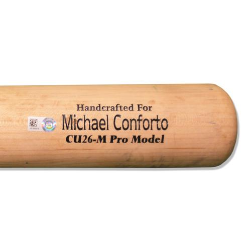 Photo of Michael Conforto #30 - Team Issued Full Marucci Black and Beige Bat - 2018 Season