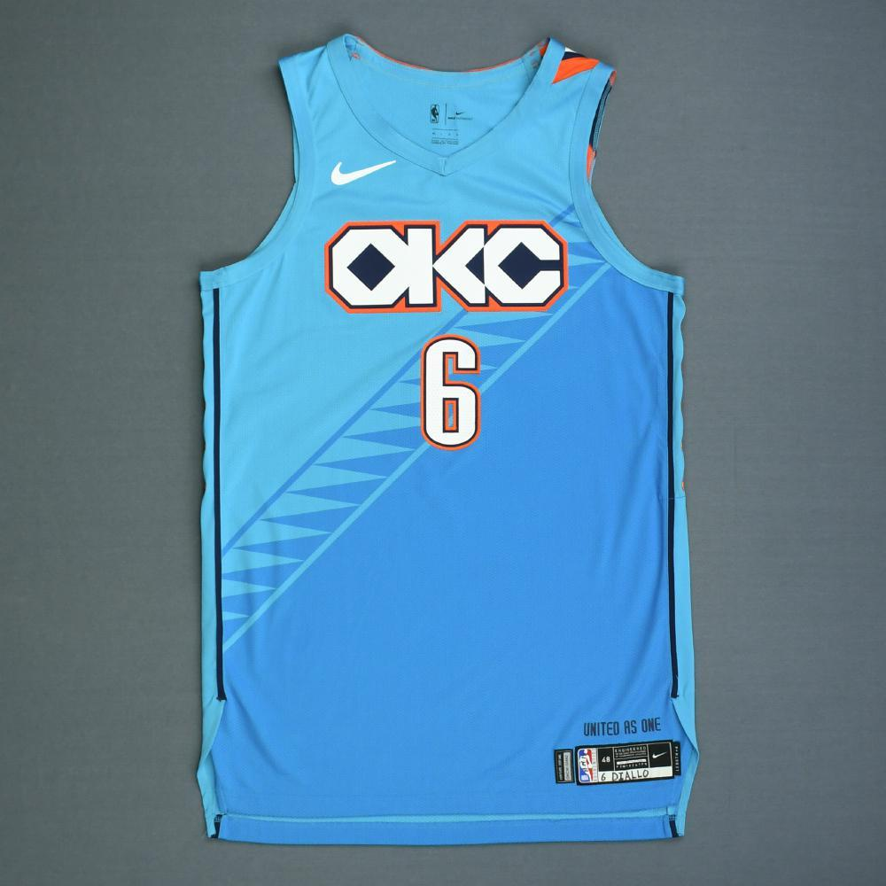 innovative design aabb8 55115 Hamidou Diallo - Oklahoma City Thunder - Game-Worn City ...