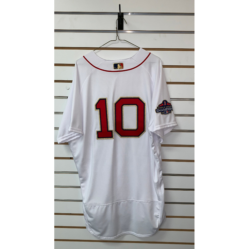 Photo of David Price Team Issue Gold Trimmed Home Jersey