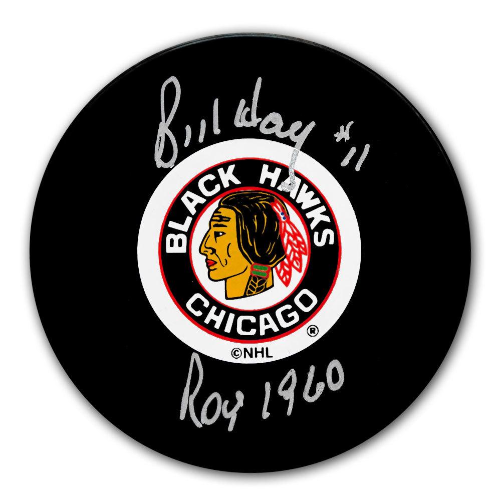 Bill Hay Chicago Blackhawks 1960 ROY Autographed Puck
