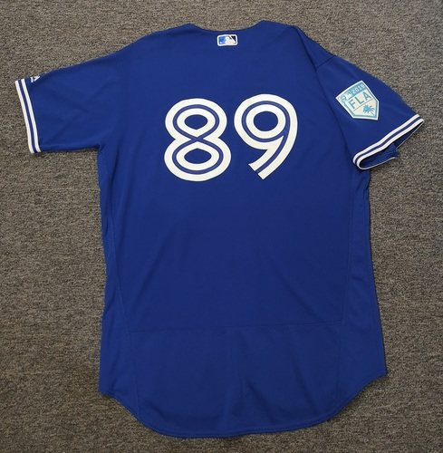 Photo of Authenticated Game Used 2019 Spring Training Jersey - #89 Kirby Snead (Mar 26: 0.2 IP, 0 ER, 2 Ks). Size 48