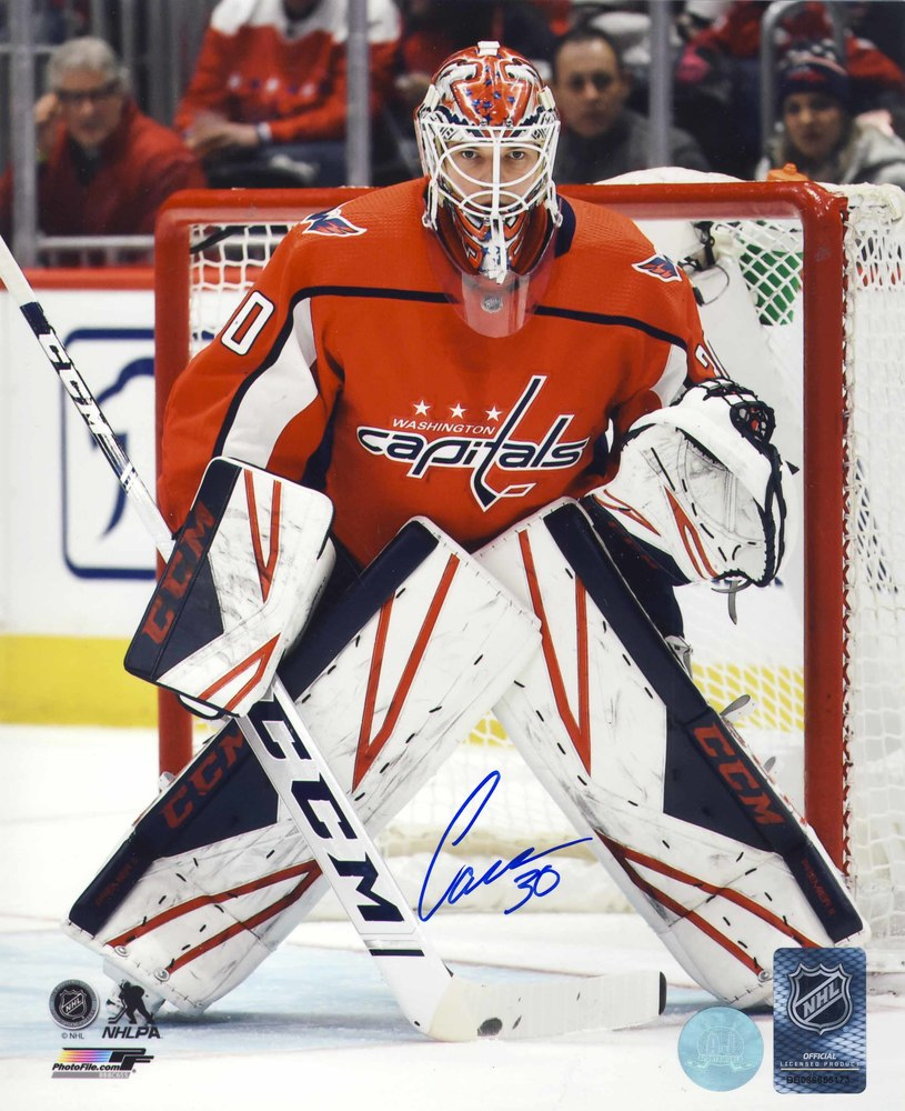 Ilya Samsonov Washington Capitals Autographed Action 8x10 Photo