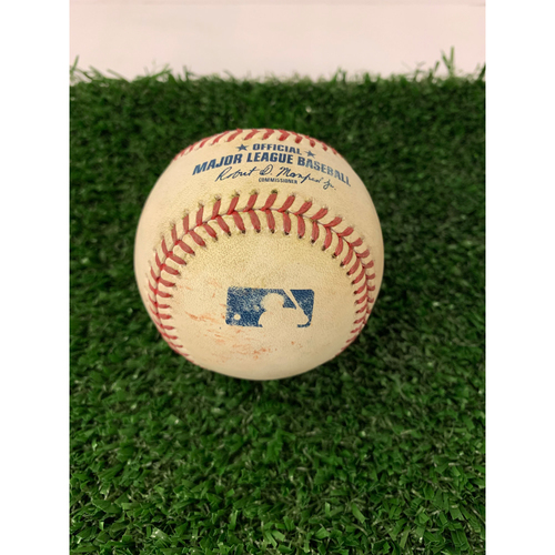 Photo of Johan Camargo Game Used Hit Double RBI Baseball - April 16, 2019
