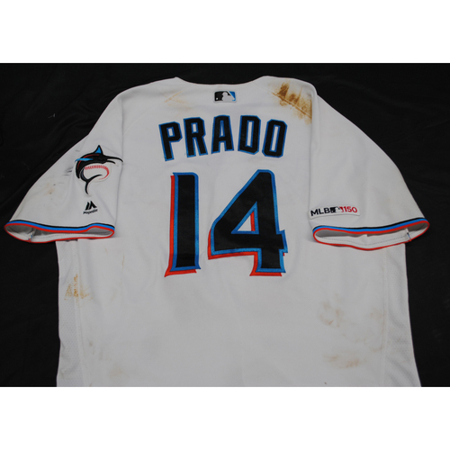 Photo of 2019 Game-Used Jersey: Martin Prado #14 - Size: 44 (Used 9/8/2019)