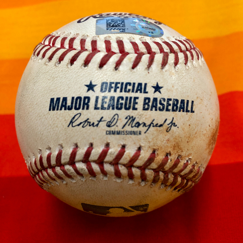 Photo of Game-Used Baseball 7/26/20 Astros Vs. Mariners (Greinke to Lopes - Groundout to 1B)