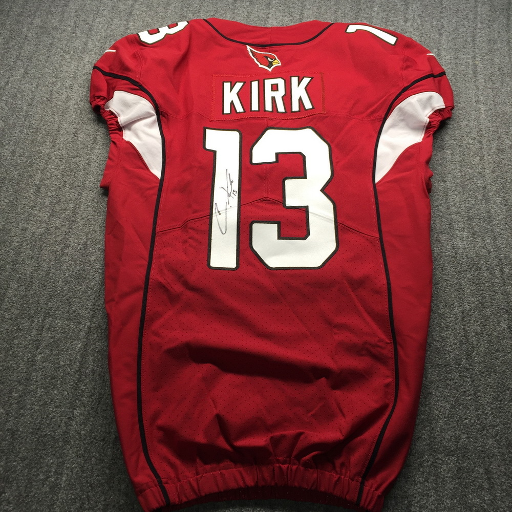 Crucial Catch - Cardinals Christian Kirk Signed Game Issued Jersey Size 38