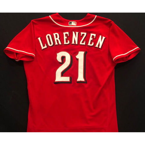 Photo of Michael Lorenzen -- 2020 Spring Training Jersey -- Team-Issued -- Size 44