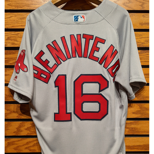 Photo of Andrew Benintendi #16 Team Issued Road Gray Jersey