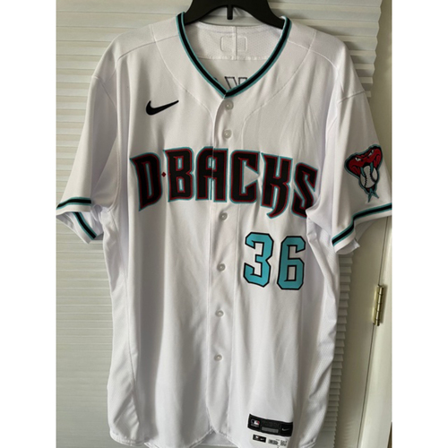 Photo of Edwin Jackson 2020 Team-Issued Home Alternate Jersey (Size 48)