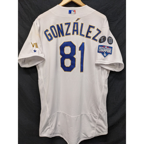 Photo of Victor Gonzalez Game-Used Gold Trim Re-Opening Day Jersey - 6/15/21