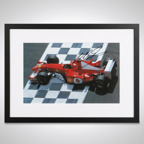 Photo of Michael Schumacher 2002 Signed Photograph Poster