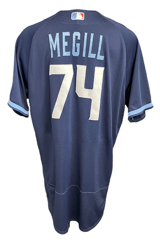 Photo of Trevor Megill Game-Used Jersey - City Connect - Cardinals vs. Cubs Game 1 of DH - 9/24/21 - Size 50