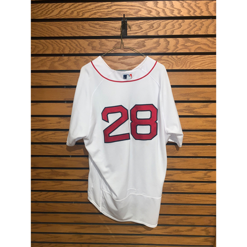 Photo of JD Martinez September 4, 2021 Game Used Home Jersey