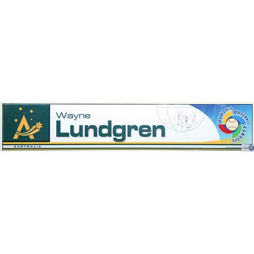Photo of 2006 Inaugural World Baseball Classic: Wayne Lundgren Locker Tag (AUS) Game-Used Locker Name Plate