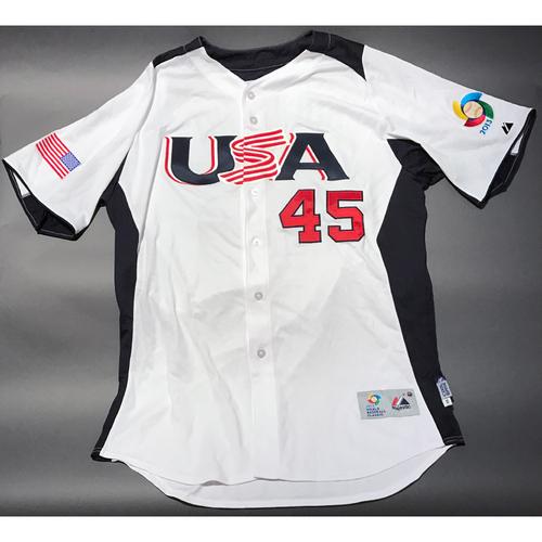 2013 World Baseball Classic Jersey - USA Jersey, Derek Holland #45