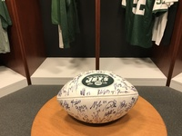 New York Jets - Autographed Football - 2012 (w/ multiple smudges)