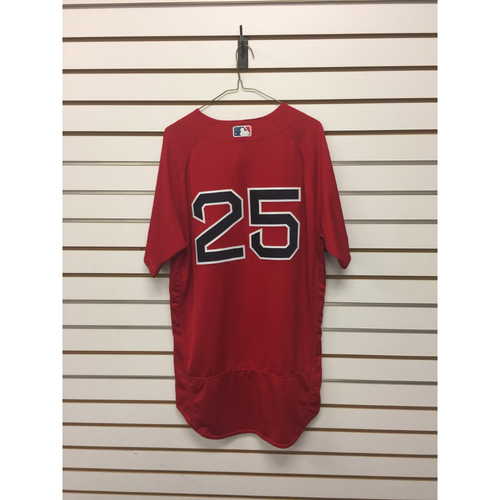 Jackie Bradley Jr Game-Used September 16, 2016 Home Alternate Jersey