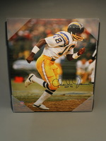HOF - CHARGERS CHARLIE JOINER SIGNED 16X20 CANVAS PRINT