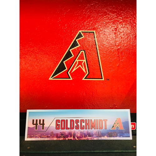 Photo of 2017 Paul Goldschmidt Team-Issued Locker Nameplate