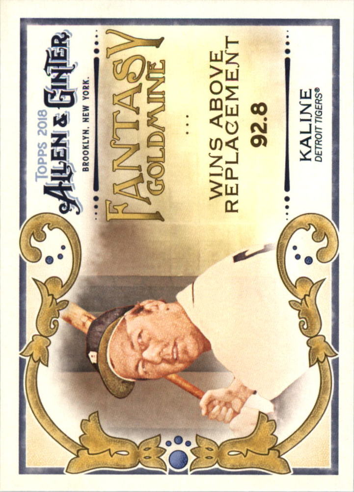 2018 Topps Allen and Ginter Fantasy Goldmine #FG42 Al Kaline