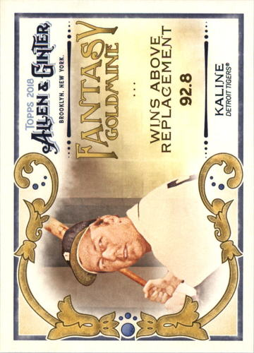 Photo of 2018 Topps Allen and Ginter Fantasy Goldmine #FG42 Al Kaline