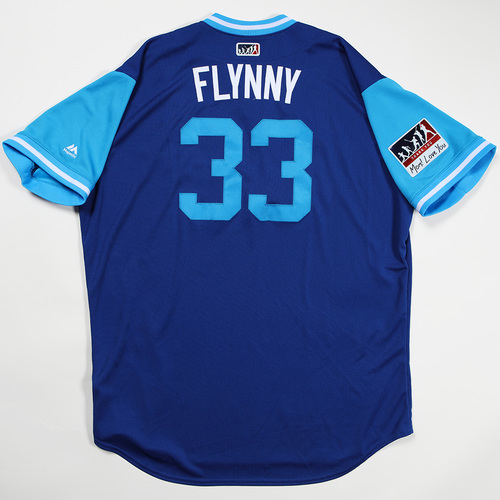 "Photo of Brian ""Flynny"" Flynn Kansas City Royals Game-Used Jersey 2018 Players' Weekend Jersey"