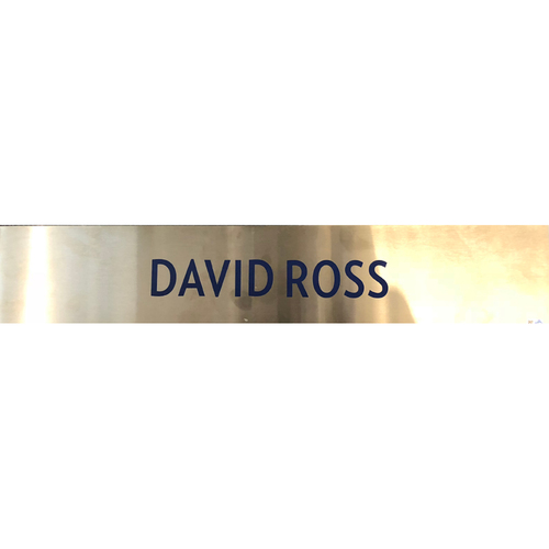 Photo of David Ross Team-Issued Locker Nameplate