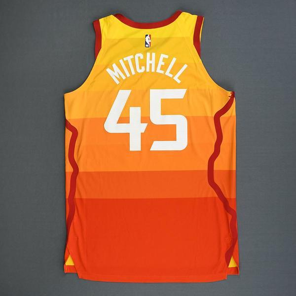 8f70ae44f93 Donovan Mitchell - Utah Jazz - Game-Worn City Edition 1st Half ...