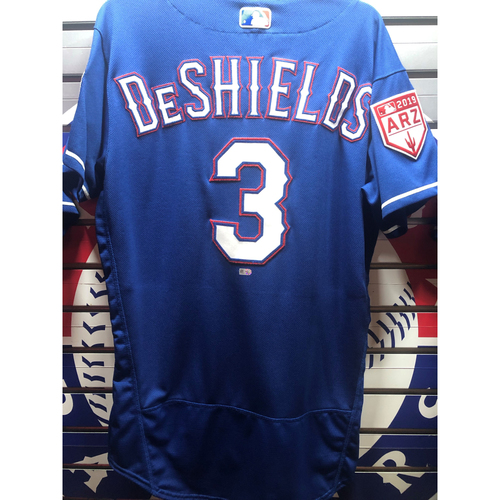 Photo of Delino DeShields Blue Team-Issued Spring Training Jersey