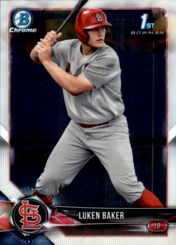 Photo of 2018 Bowman Chrome Draft #BDC109 Luken Baker