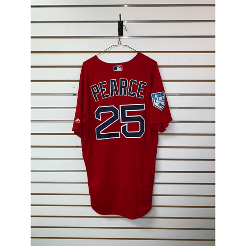 Steve Pearce Team Issued 2019 Spring Training Jersey