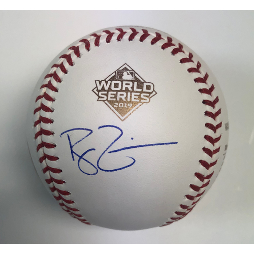 Photo of Ryan Zimmerman Autographed 2019 WS Logo (Gold Stats) Baseball