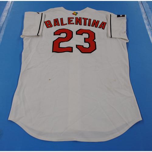 Photo of 2006 Inaugural World Baseball Classic: Johnny Balentina Game-worn Team Netherlands Home Jersey