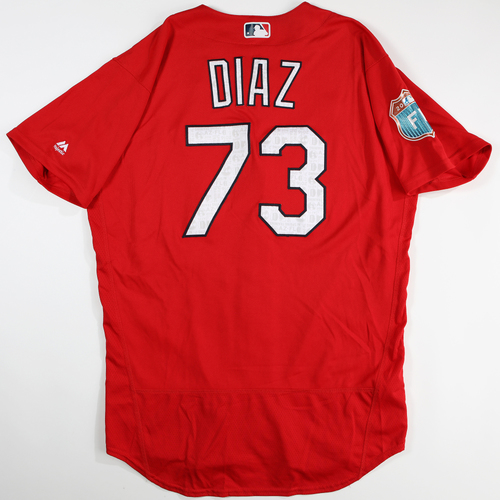 2016 Spring Training - Spring Training Game Used Jersey - Aledmys Diaz (Cardinals)- Size- 46