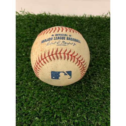 Photo of Dansby Swanson Game Used Hit Double Baseball - April 16, 2019